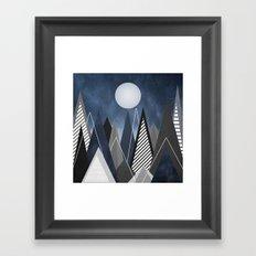 Midnight Mountains Framed Art Print
