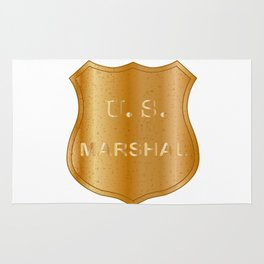 United States Marshal Shield Badge Rug