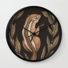The Chipmunk and Bay Laurel Wall Clock