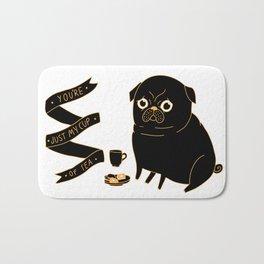 Tea Pug Bath Mat