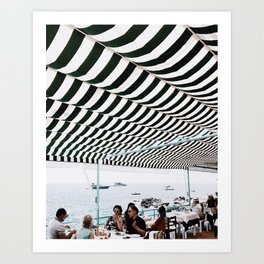 Bold Stripes, Capri Art Print