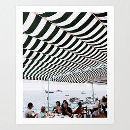 Bold Stripes, Capri Art Print