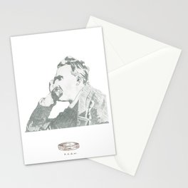 nietzsche on canvas board Stationery Cards