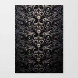 Wall of eyes Canvas Print