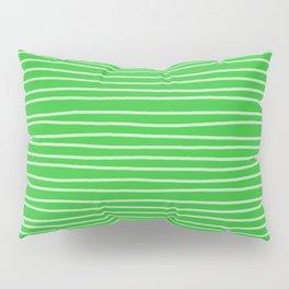 Grass Green Pinstripes Pillow Sham