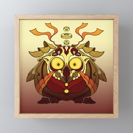 Owl Fierce Framed Mini Art Print
