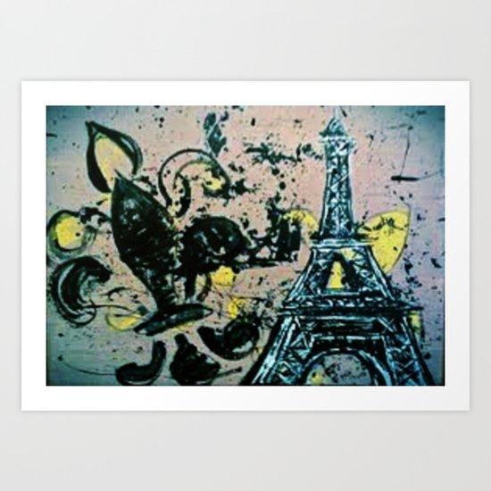 Eiffel Tower Abstract Art Print