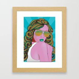 Pop Art Portrait Series 1: v.2 Framed Art Print