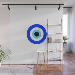 Evil Eye White Wall Mural