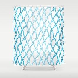 Net Water Shower Curtain