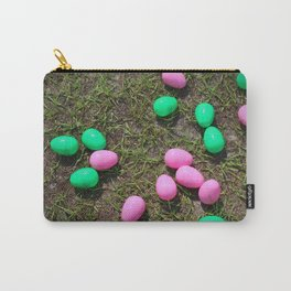 Pink And Green Eggs Carry-All Pouch