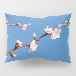 Pêcher sur fond bleu Pillow Sham