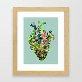 Botanical Heart Mint Framed Art Print