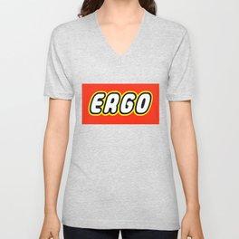 ERGO in Brick Font Logo Design by Chillee Wilson Unisex V-Neck