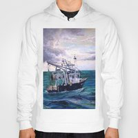 england Hoodies featuring New England by Samantha Crepeau