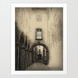 Melk Abbey Corridor Art Print