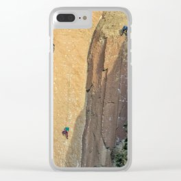 Rock Climbing At Smith Rock, No. 2 Clear iPhone Case
