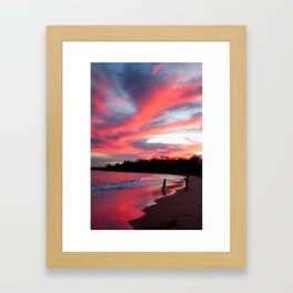 Blazing Reflection Framed Art Print
