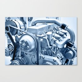 Turbo Diesel Engine Canvas Print