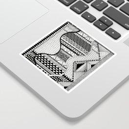 Wavy Geometric Patterns Sticker