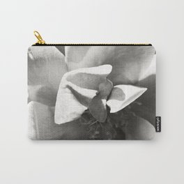 Black & White Rose Carry-All Pouch