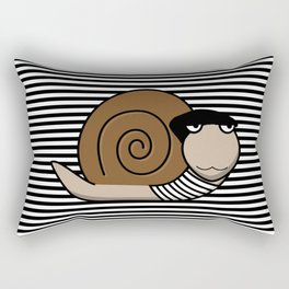 French Snail ~ Escargot Rectangular Pillow
