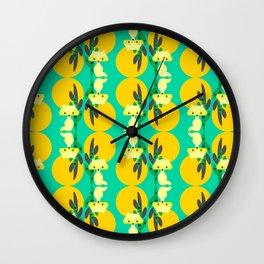 Desert fox pattern Wall Clock