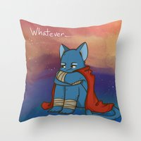 whatever Throw Pillows featuring Whatever by BlacksSideshow