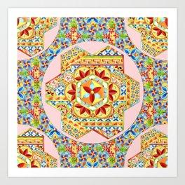 Gypsy Boho Chic Hexagons Art Print