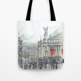 Lviv cityscape Tote Bag