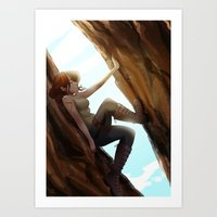 climbing Art Prints featuring Climbing  by Timtimsia
