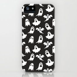 Ghosts on Black // Halloween Collection iPhone Case