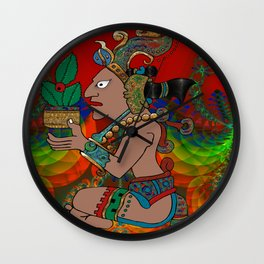 Yucatan Psychedelic Mexicano Visiones Wall Clock