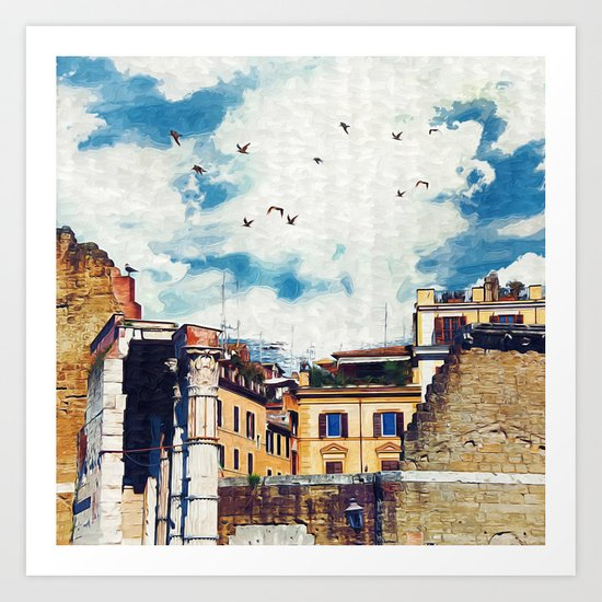 The (Old-New) Dream City  Art Print