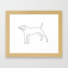 Beagle (Black) Framed Art Print