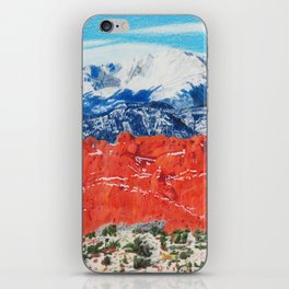 Pikes Peak Behind the Garden of the Gods iPhone Skin