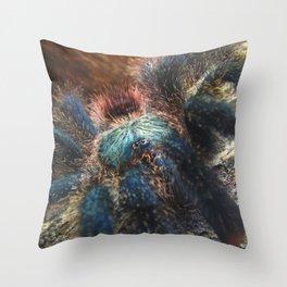 Greenbottle Blue Tarantula Throw Pillow