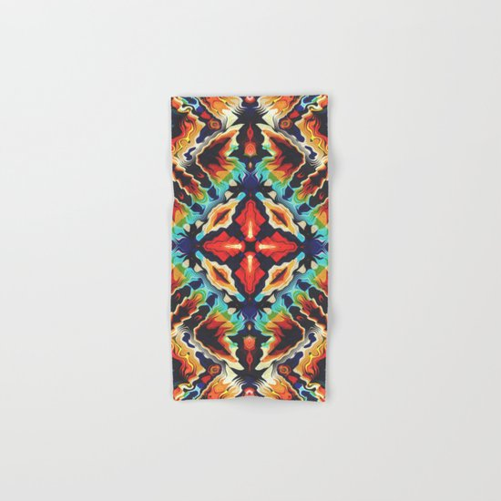 Ornate Geometric Colors Hand & Bath Towel