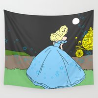 cinderella Wall Tapestries featuring Cinderella by RaJess