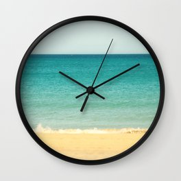 Beach,Sea & Sky - abstract Wall Clock