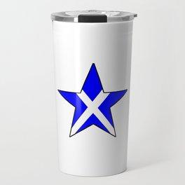 flag of scotland 8– scotland,scot,scottish,Glasgow,Edinburgh,Aberdeen,dundee,uk,cletic,celts,Gaelic Travel Mug