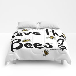 Save the Bees! - Black Comforters