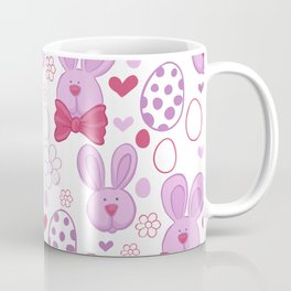Cute easter pattern with eggs and bunnies Coffee Mug