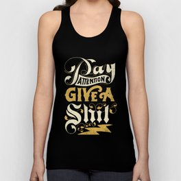 Pay Attention  Unisex Tank Top