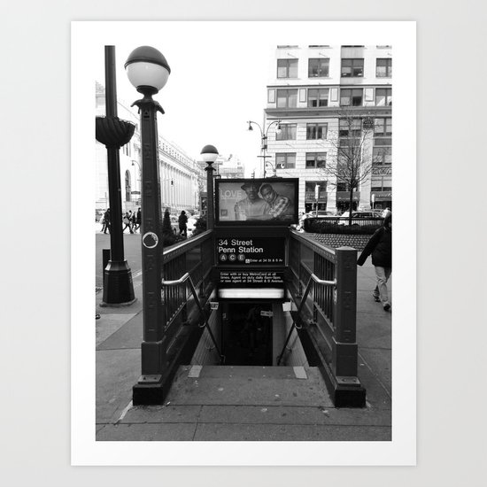PENN STATION NY Art Print