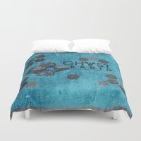 radio Duvet Covers featuring Ghost Radio by AngoldArts