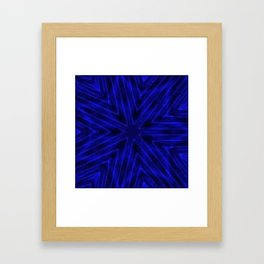 Deep Blue Paper Snowflakes Framed Art Print