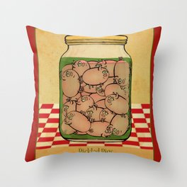 Pickled Pig Revisited Throw Pillow
