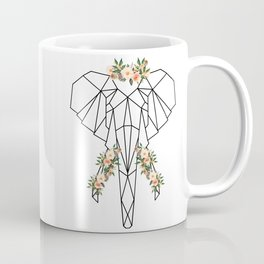 Elephant with Flower Crown Coffee Mug