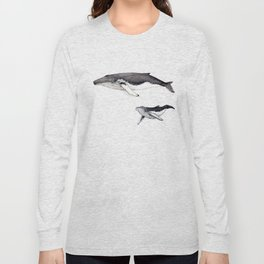 North Atlantic Humpback whale with calf Long Sleeve T-shirt